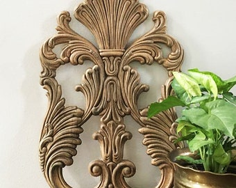 Decorative Wood Applique for Furniture / Wood Carved Architectural Element