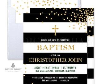 Boy Baptism Invitations Black and White Baptism Invitation Boy Christening Invites Printable Christening Modern Baptism Invites Boy- Krissy