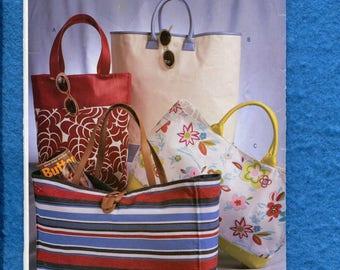 Butterick P158 Beach Bags Tote Bags Large Purses UNCUT