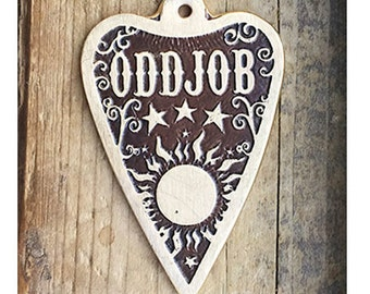Dog Tag / Pet Tag / Custom Dog Tag / Pet ID Tag / Brass Dog Tag / Etched Dog Tag / Custom Cut Ouija Planchette - Extra Large
