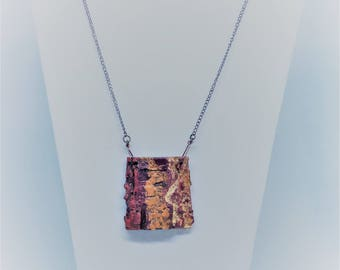 Tree Bark Necklace, Tree Pendant, Real Wood, Nature Necklace, Unique Gift, Gift For Her, Simple Style, Summer Trends 2017, Minimalist, Jewel