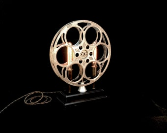 Table Lamp Vintage Film Reel
