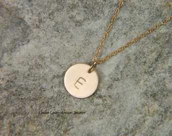 Solid Gold Disc Necklace 9.5 mm 14K Gold Necklace Personalized Gold Necklace Dainty Gold Necklace Luxury Jewelry