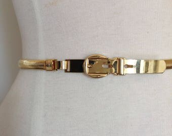 Vintage gold chain belt snake chain