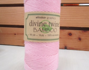Bamboo Twine ~ Light Pink ~ Eco-Friendly ~ 18 ply ~ 15 yards