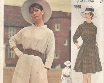 Couturier Dress Pattern Sybil Connolly Vogue 1991 Size 14