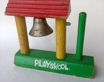 Vintage Playskool Bell Stack, 1960's