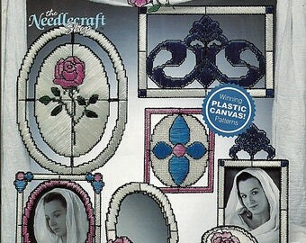 Stained Glass Plastic Canvas Pattern  Book The Needlecraft Shop 90PH13
