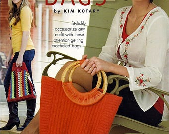 In Style Bags to Crochet  Pattern Booklet Annies Attic 871034