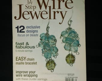 Step by Step Wire Jewelry ~ Volume 3 No. 5  ~ Winter 2008 Jewelry Design Project How-To Magazine Back Issue