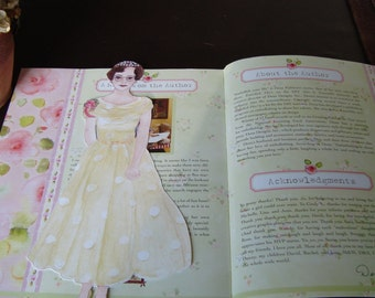 Prom Queen paper doll bookmark
