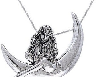 Shop Closing Sale! Jessica Galbreth Sterling Silver Child of the  Moon Pendant