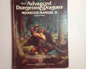 Offical Advanced Dungeons and Dragons: Monster Manual II by Gary Gygax 1983