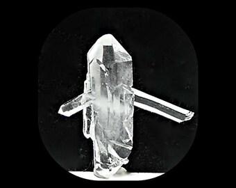"Quartz Gemstone Double Terminated Rock Crystal ""Broken Arrow"" Gem Focal Stone Talisman Natural Jewels Wear it or Display it"