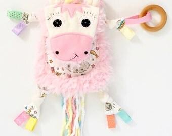 Unicorn mini baby lovey blanket memory keepsake toy friend
