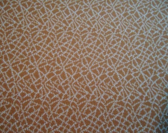 Vintage Gold and White Knit Fabric
