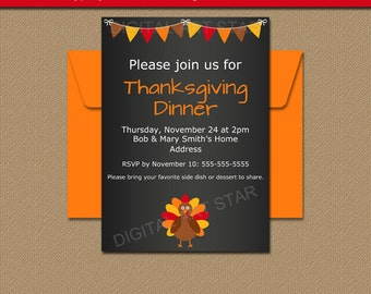 free printable thanksgiving invitations templates