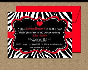 Zebra invitation etsy printable zebra baby shower invitations valentines day invitation template editable zebra invitations red stopboris Gallery