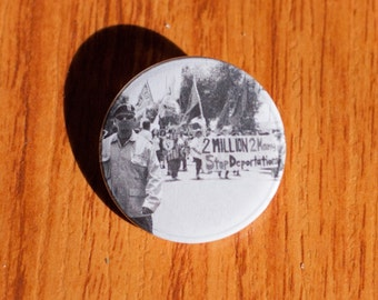 "Stop Deportations - 1.25"" Pinback Button"