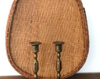 Vintage Brass Candleholder / Pair of Brass Candleholders / Vintage Candlestick Holder