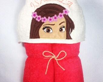 Moana, Moana Hooded Towel, Personalized Towel, Kids Beach Towel, Kids Personalized Towel, Bath Towel, Moana Party, Moana Birthday Gift, Kids