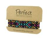 Handwoven Micro Macramé Friendship Bracelet // PerfectImp Best Friend Gift // Colorful Bright Handmade Woven Wrist Wrap // Knotted Braclets
