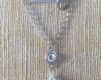 Swarovski Crystal Heart Layered Necklace