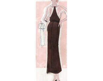 Plus Size (or any size) Vintage 1934 Dress Sewing Pattern - PDF - Pattern No 1541 Ethel
