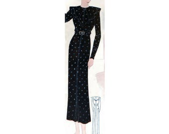 Plus Size (or any size) Vintage 1934 Dress Sewing Pattern - PDF - Pattern No 1537 Billie