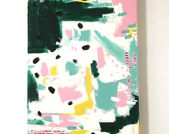 18 x 24 Original Abstract Painting in Acrylics on Canvas / Modern Art / Abstract Art / ooak / Kids room wall decor / nursery wall decor /