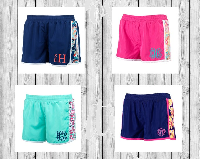 Monogram Running Shorts, Monogram Athletic Shorts, Monogrammed Shorts, Sale, Group Discounts
