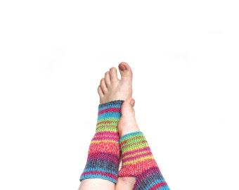 knit dance socks Knitted yoga socks, wool socks for yoga,