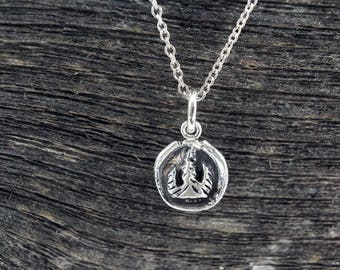 Red Cross Fundraiser - Handmade Sterling Silver Forest Roots Necklaces