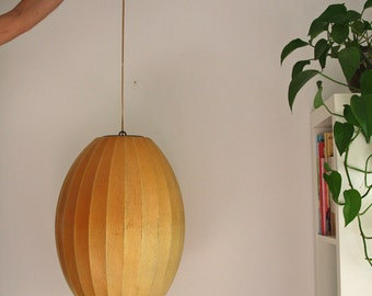 George Nelson Hanging Bubble Lamp Mid Century Howard Miller Original
