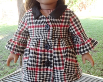 """18"""" Doll Clothes Winter Coat and Hat Fits American Girl Lea, Grace, Melody"""