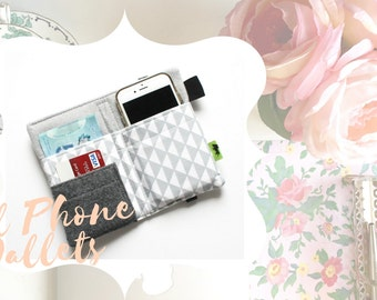 Pretty Wallet gift for her gift for mother iPhone wallet iPhone clutch purse iPhone 6 wallet cell phone wallet white women gift TLC Pouches