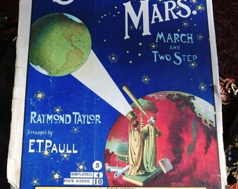 Vintage A Signal From Mars Sheet Music from E. T. Paull Music Co. - 1901 - from DustyMillerAntiques