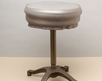 POSING STOOL - vintage 1950's stool from a commercial portrait studio - steampunk chair - barstool