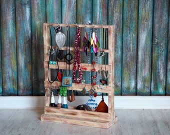 wood jewelry display | etsy, Hause ideen