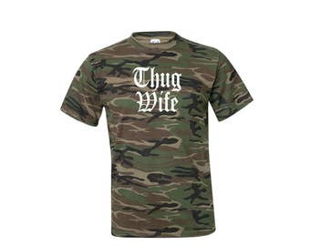 Thug Wife Shirt, Gift for Bride, Wifey Shirt, Anniversary Gift, Fiancé Gift, Fiancé Shirt, Bride To Be, Bride To Be Gift, Bridal Shower Gift