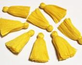 Sunflower Yellow Tassels, 2'' Cotton Fringe Tassels, Ethnic Jewelry Supplies, India Jewelry Tassels (TS29)