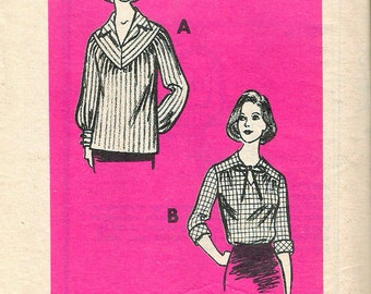 """Vintage 1980 Let's Sew Mail Order 9257 Blouse Sewing Pattern Size 16 Bust 38"""""""