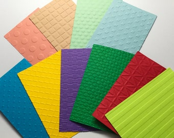 Embossed paper - Scrapbook - Embellishments - Hand made cards - card making - DIY  papercrafting - paper supplies