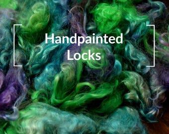 Handpainted Locks - Kettle Dyed Hand painted Spinning Fiber Tutorial