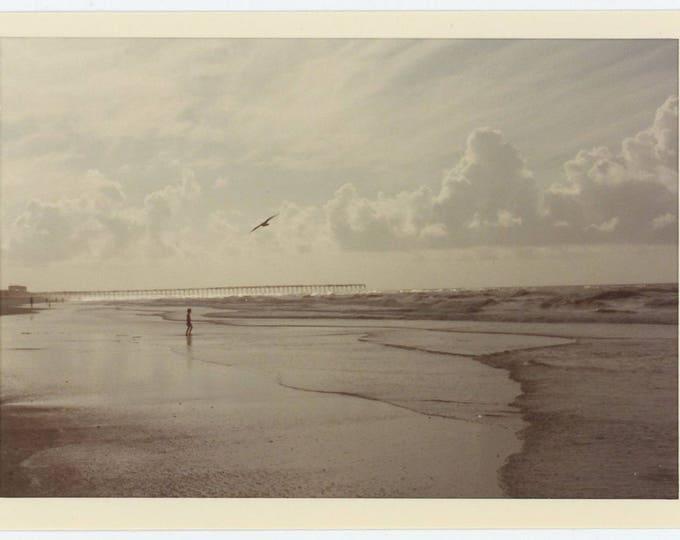 Vintage Snapshot Photo: On the Beach, 1980 (72552)