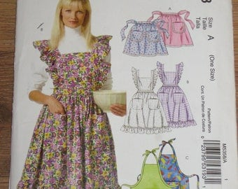 McCall's EASY Apron pattern in 3 styles # 5358 UNCUT One size Apron patterns