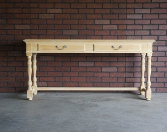 Console / Sofa Table / French Farmhouse Console / Cottage Console by Drexel Heritage