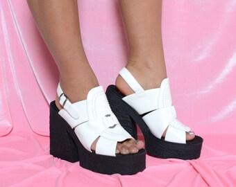 Deadstock 90's Street Feet Chunky Platform Sandals Sz 8/9