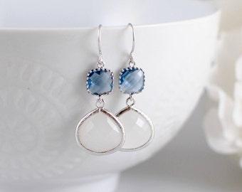 The Jerri Earrings - Sapphire/Opal