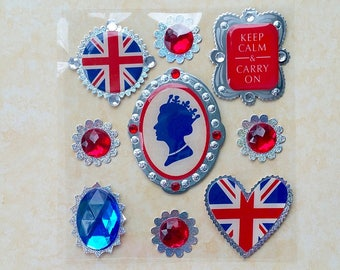 BRITISH STICKERS, England Stickers, Jolee's Stickers, Royal Britain Stickers, Britain Stickers, Union Jack Stickers, English Stickers, U.K.